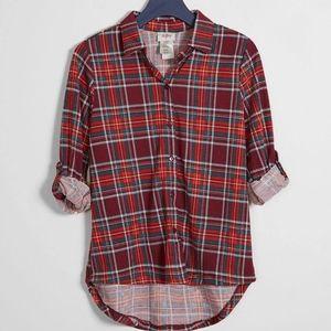 Daytrip girls plaid shirt